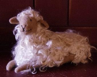 Large needle felted sheep