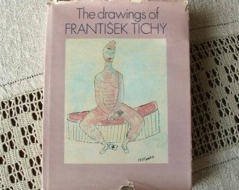 SALE! 30% off coupon code - summer30 -  Beautiful Frantisek Tichy Vintage Art Book of Drawings