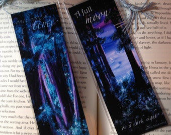 Fairy Tale Storybook bookmark, your choice of artwork, 2 images front and back