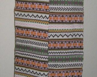 Scarf with  zipper poker wool knit Gift ideas Cosplay Manga Burningman