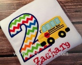 Personalized School Bus Shirt - Personalized Birthday Shirt - Wheels on the Bus Shirt - You Choose your Fabric - by Pocketbaby
