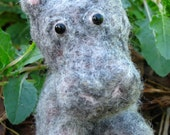 Needle Felted Hippo, Mister Hippo Sitting