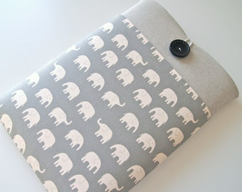 """Elephant Laptop Case 13.3"""" MacBook Air or Pro Sleeve, Ultrabook Case 13 inch Cover Padded with Pocket Custom Size Available"""