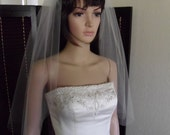 "Little Veil with Cut Edge in Standard Width of 72"" Bridal Veil"