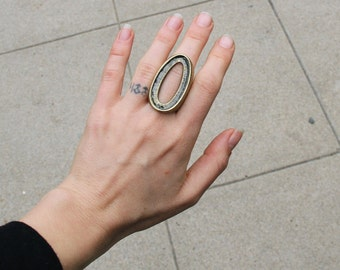 Large brass ring. 7