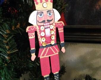 Hand painted nutcracker ornament