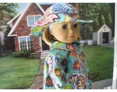 Bon Jean Creations 18 Inch Doll Rain Slicker, Rain Coat, Forties Historical Style Doll Clothes