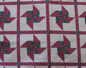 2 Yards Cotton Pinwheel Fabric/44 in Wide/Quilting/Crafting/Sewing/Applique