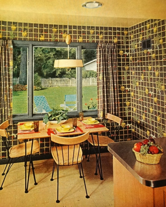 Better Homes And Gardens Decorating Book 1956 Teal And Gold