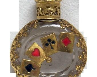 Czech Mini Perfume Bottle   Jaco Card Suit Poker