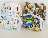 Set of 2 One Size cloth diapers or One size cloth diaper covers, AI2 cloth diapers, cloth nappy