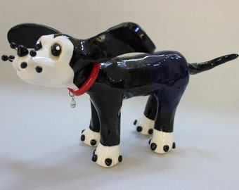 Doogie the Ceramic Dog Sculpture - Custom Pieces Available Upon Request