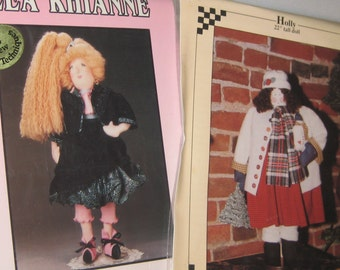 Group 2 DOLL PATTERNS Calico Mountain  Pear Blossom  Fun Dolls to Make