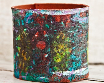 Leather Cuff, Leather Bracelet, Women's Bracelet Cuff, Leather Jewelry, Leather Wristband