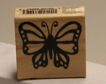 Lovely Design Butterfly Rubber Stamp