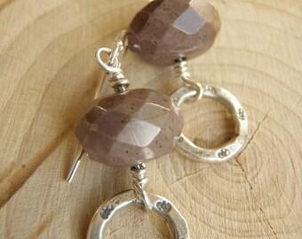 Earthtone Earrings - Jasper, Thai Silver & Sterling Silver