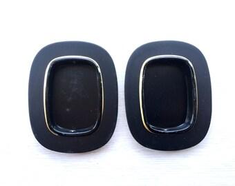 Japanese Door Pulls - Sliding Door Pulls - Pocket Door Pulls - Japanese Vintage Door Pulls  Black Gold (DP5-12)