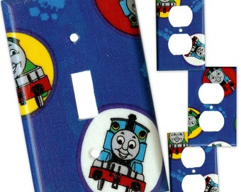 Thomas the Tank Engine and Friends Light Switch and Outlet Covers - Choose your set - FREE Domestic Ship
