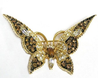LeC Boucher Butterfly Figural Brooch