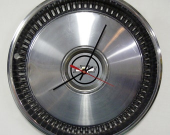 Chevy Clock - 1975 - 1981 Chevrolet Camaro Chevelle Nova Hubcap Clock - Muscle Car Wall Clock - 1976 1977 1978 1979 1980
