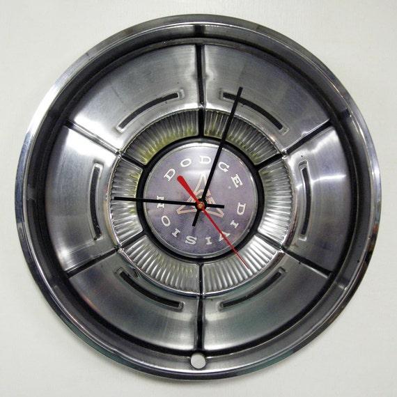 Dodge Hubcap Clock - 1970 1971 Charger Challenger Dart Demon Coronet Wall Clock - Mopar Muscle Car