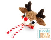 SALE Reindeer Hat with Antlers READY to SHIP for Newborn Size