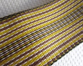 Brown Yellow Lawn Furniture Webbing Weatherproof Plastic