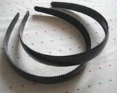 SECONDS SALE - Wide Black Pair of Plastic Headbands