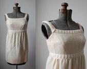 Snow Elf Mini Dress • 1960's Wool Mini Mini Dress • Mod Mini Dress