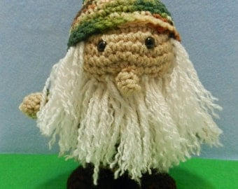 Camouflage Gnome Crochet Doll