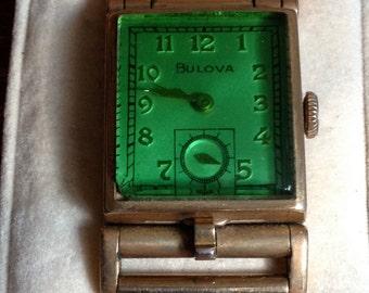Vintage Bulova Locket Wrist Watch