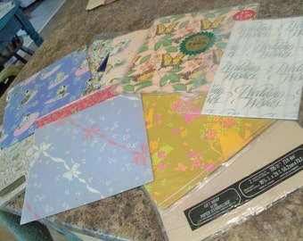 10 piece variety of vintage wrapping paper