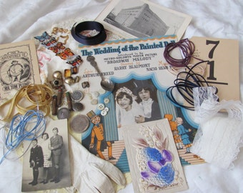 Antique Inspiration Kit for Craft, Scrap Book or Mixed Media Projects (lot 15)