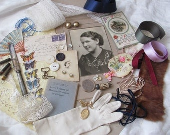 Antique Inspiration Kit for Craft, Scrap Book or Mixed Media Projects (lot 13)