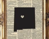 8 x 10 I heart Albuquerque New Mexico  Dictionary Print