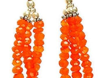AAA Carnelian Dangle earrings