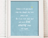 Printable Typography Art , quote by Conan O'Brien, inspirational wall art