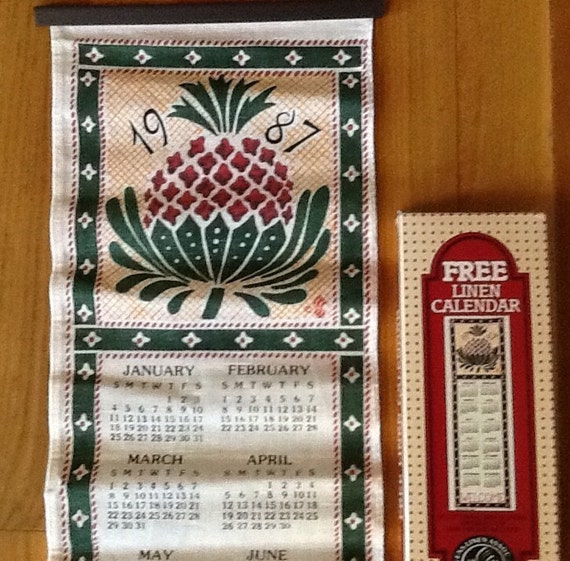 Tea Towels Myer: 1987 Calendar Tea Towel New In Box