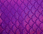 Purple on Purple Holographic Fishscale Spandex Fabric