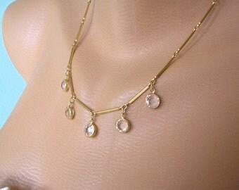 Swarovski Crystal Necklace, Prom Necklace, Party Jewelry, Bridal Jewelry, Mother of the Bride, Great Gatsby, Downton Abbey, Signed Swarovski