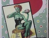 Kitschy Fun Valentine, Anniversary, Love Card for Your Zombie, Walking Dead Fan
