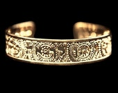 Judaica, Rose Gold cuff, Hebrew jewelry, spiritual jewelry, Delight, Hebrew, Psalms, inspirational, Blessings Jewelry, Israel, Bible Jewelry