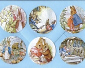 Stickers, Peter Rabbit, Vintage Style, Sticker Seals, Rabbit