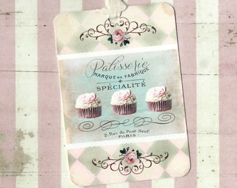 Tags, Bakery Tags, French Bakery, Patisserie