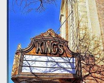 Kings Theatre, Brooklyn - 20 x 20 Fine Art Canvas Print, Movie Palace, Architecture, Photograph, Cinema, New York City