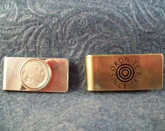 Vintage Indian Head Nickel and Okonite Money Clip Set