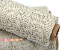 Natural Silver Bakers Twine,  Hemp Twine, 1mm, 20lb,   Metallic Bakers Twine, Bakers  Hemp Twine -T63