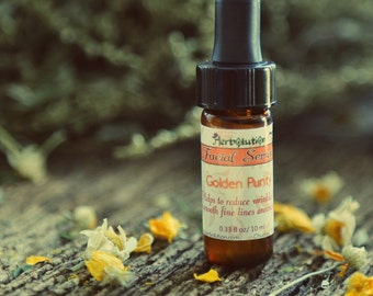 Golden Purity Organic Facial Serum - Natural Vegan Moisturizer for all skin types - smaller sizes, 8 ml and 3 ml