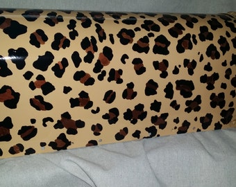 Leopard Print hand painted mailbox