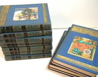 The Wonderland Of Knowledge, A New Pictorial Encyclopedia, 1930s, Childrens Encyclopedia